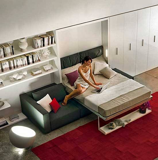 Fashionable wall bed
