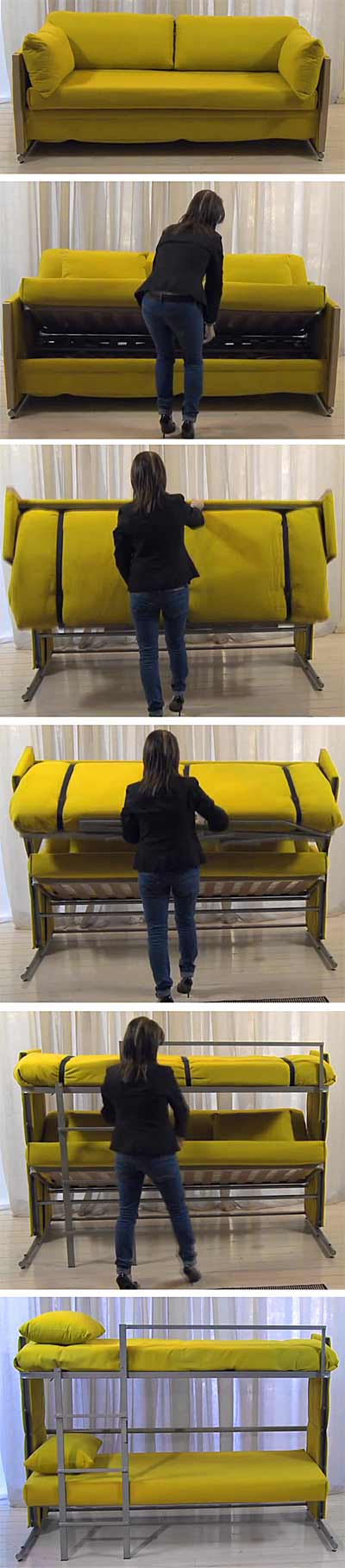 Amazing Bunk Bed Couch Folding Sofa Turns Into Bunk Bed In Seconds Uwap Interior Chair Design Uwaporg
